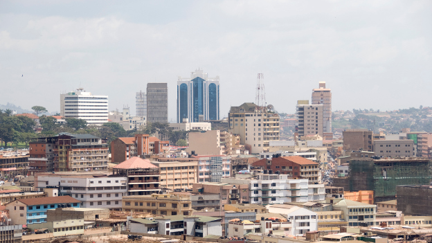 View of the skyline of Kampala.