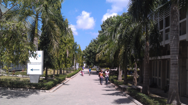 Entrance of the University of Dar es Salaam.